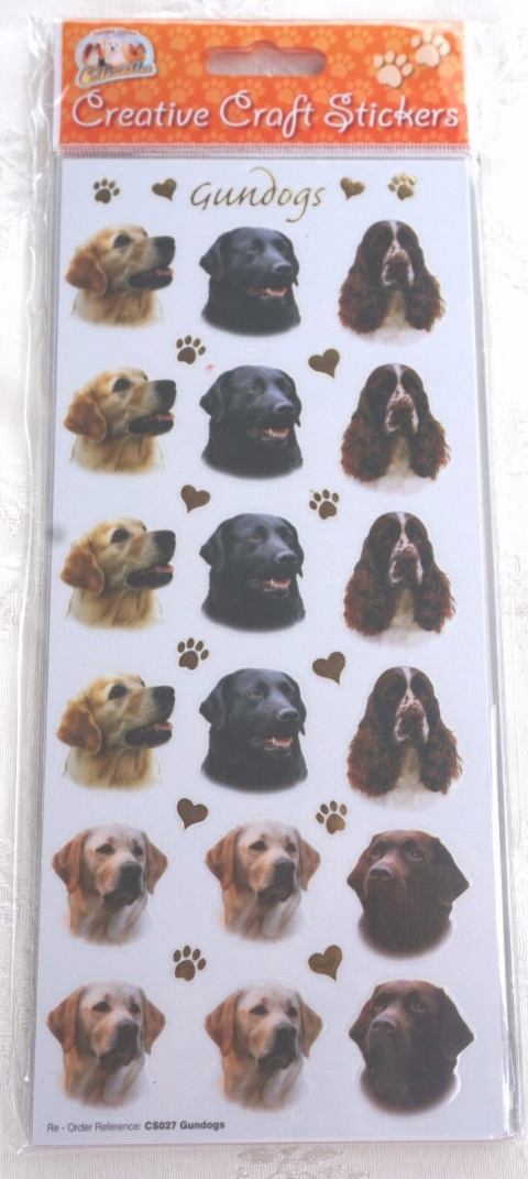 GUNDOGS - RETRIEVER LABRADOR SPRINGER STICKERS